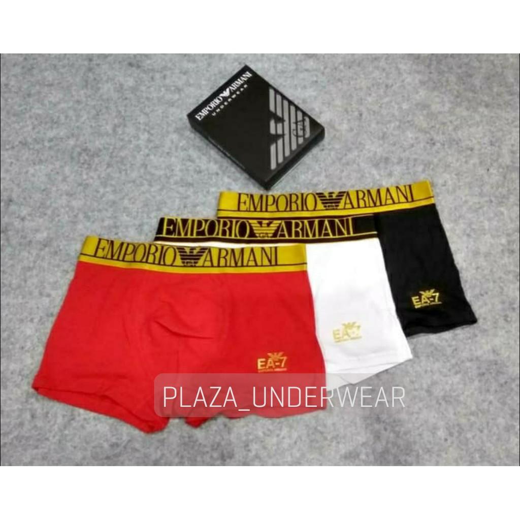 Celana Dalam Pria Boxer Trunk Emporio Armani Gold Edition Isi 3 Pcs ... e4ad3e0e57