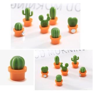 Bayar Di Tempat 6pcs Magnet Kulkas Mini Bentuk Kaktus