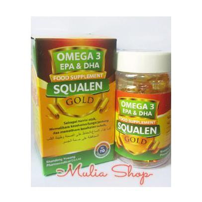 Minyak Omega 3 EPA & DHA Squalen Gold 70 Kapsul Nutrisi Otak Jantung   Shopee Indonesia