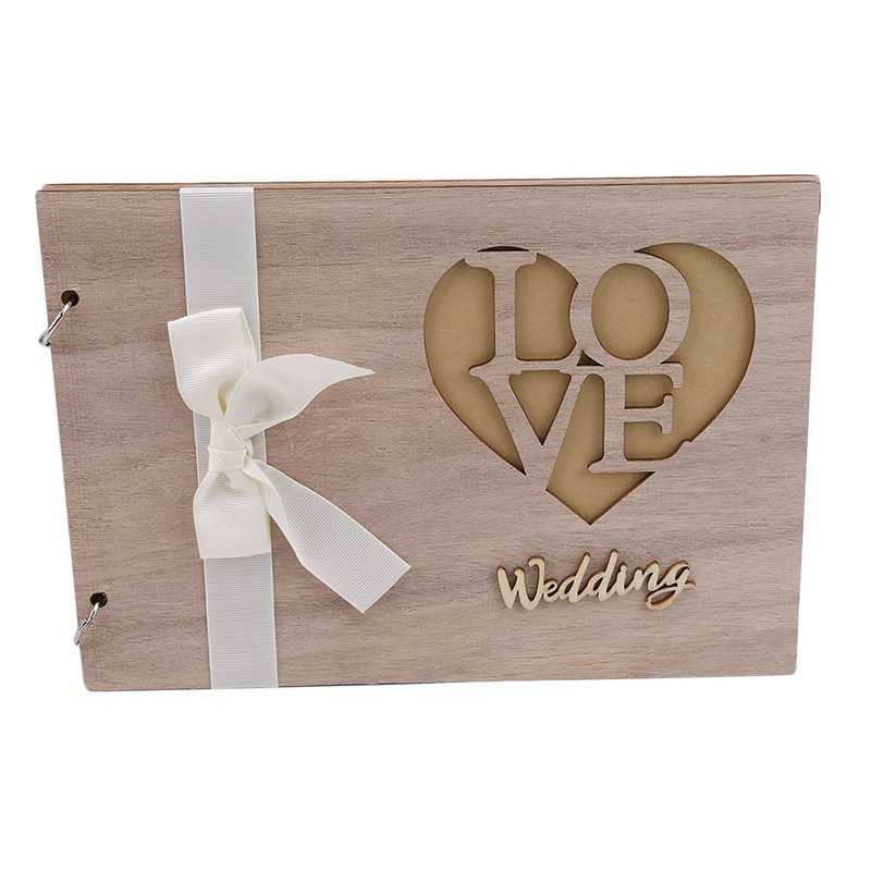 1 Pc Wooden Wedding Guest Book Wedding Guest Book Wedding Tree Personalised Guest Book Shopee Indonesia