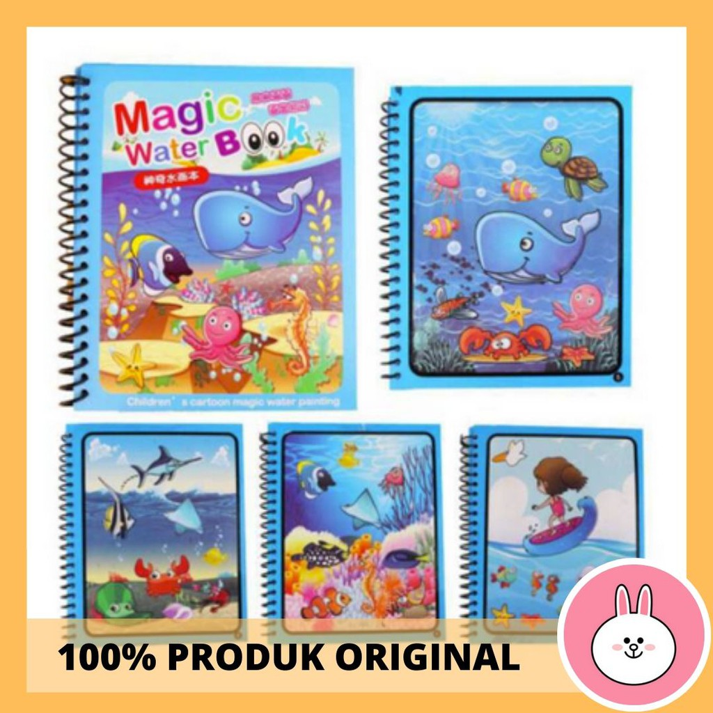 [1KG =10PCS] Magic Water Book Buku Gambar Mewarnai Anak Dengan Pulpen Tinta Dari Air Water Drawing