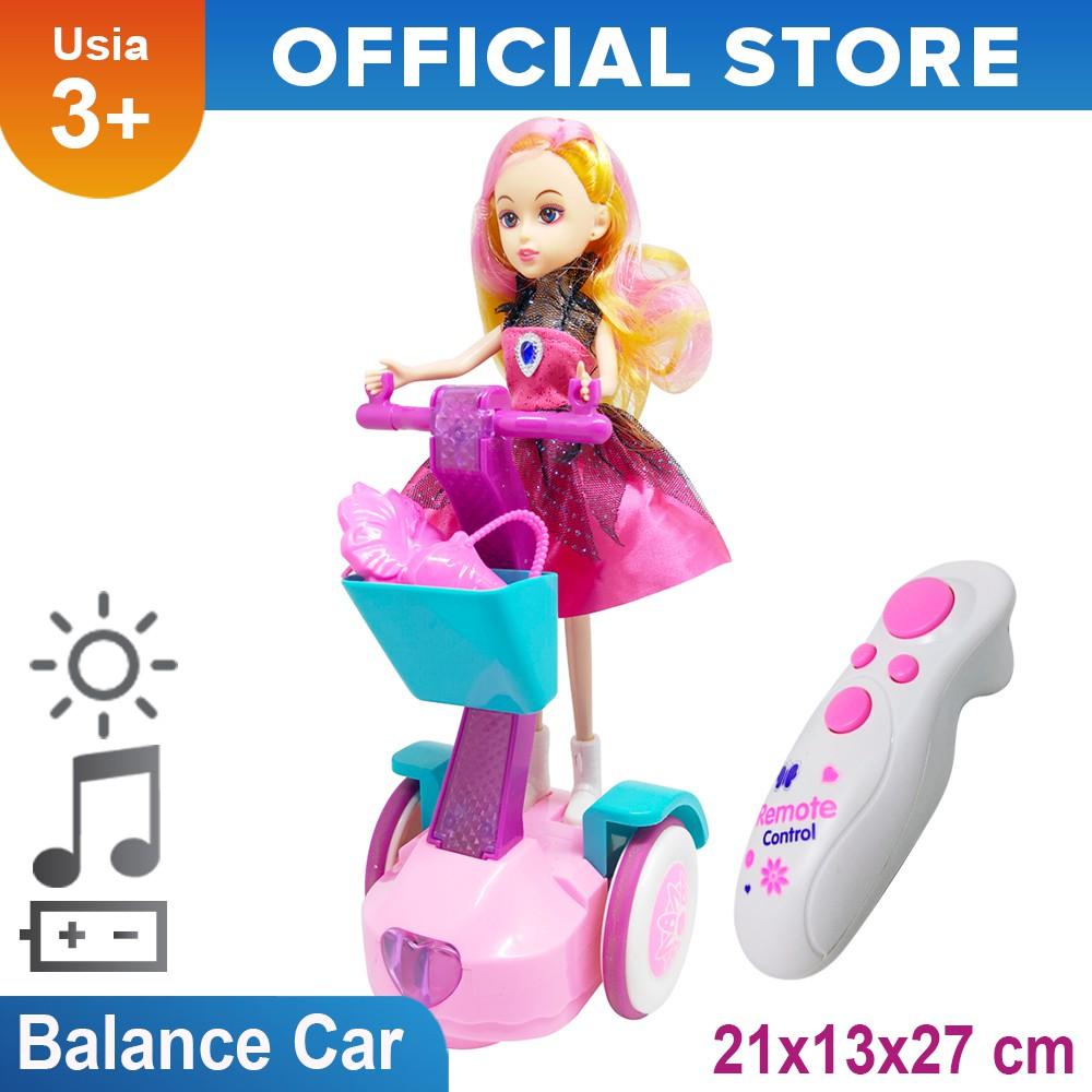 Mainan Anak Perempuan Boneka Balance Car Remote Control Rc Balance Car Zr2060 Shopee Indonesia