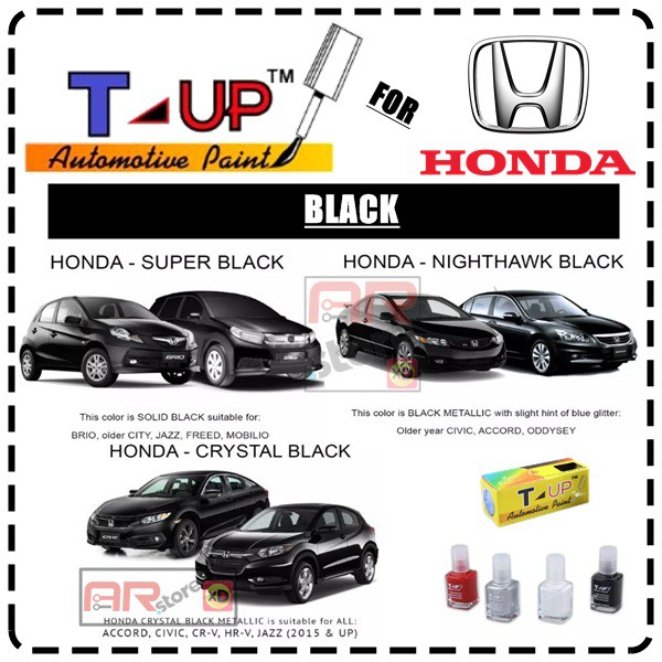 Honda Black T Up Touch Up Paint Cat Oles Penghilang Baret Dan Lecet Shopee Indonesia