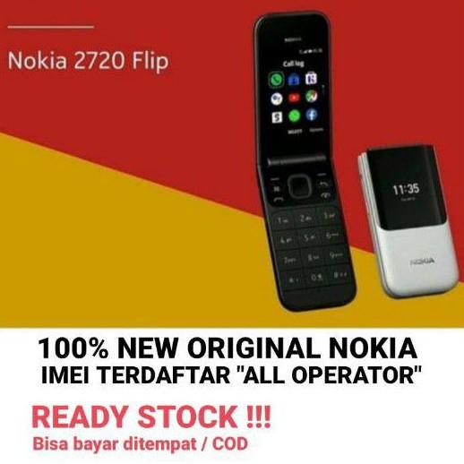 Nokia 2720 4G Flip Lipat Dual Sim Original Hp Handphone Nokia Lipat Bisa Wa Whatsapp Yt Ig Internet