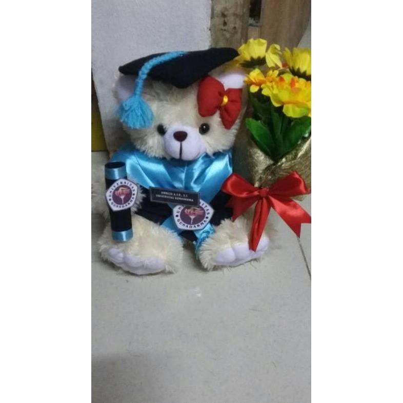 Boneka Wisuda Teddy Bear Bucket Bunga Kado Romantis Couple Unik Lucu Best Seller Shopee Indonesia