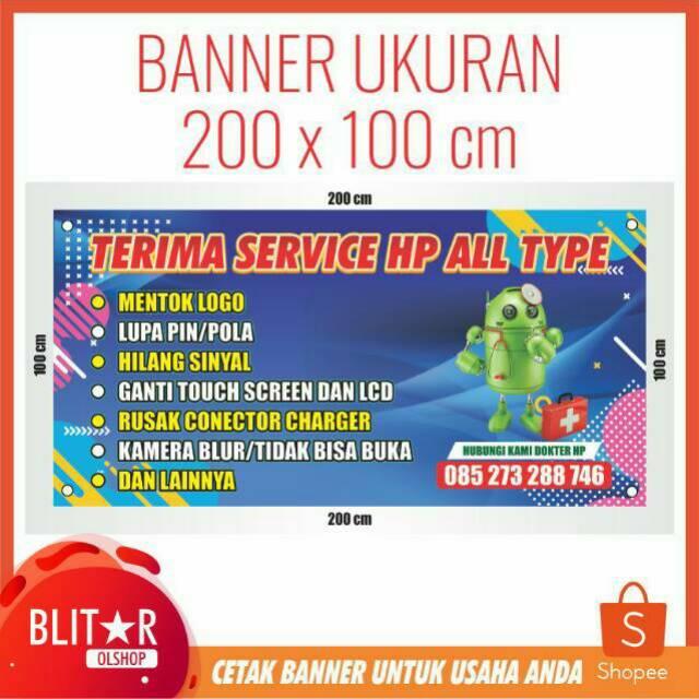 Contoh Banner Servis Hp - desain spanduk kreatif