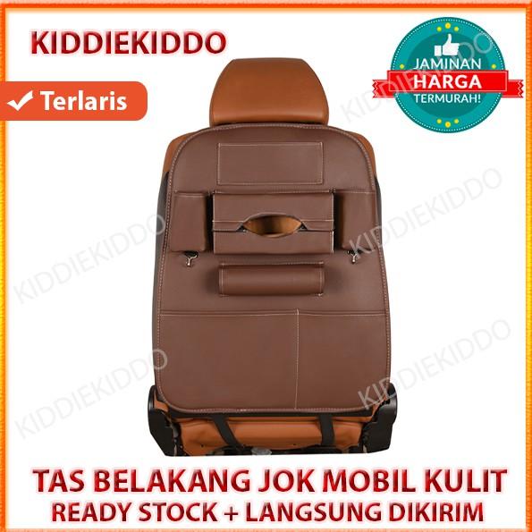 Leather Premium Auto Car Organizer Tas Jok Rak Kulit Elegant Tempat Tissue Mobil - Coklat Tua | Shopee Indonesia