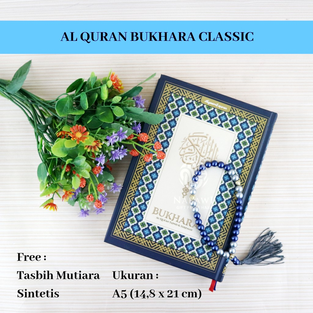 Al Quran Bukhara Classic Tajwid Warna Terjemah A5 Free Tasbih Cantik Shopee Indonesia