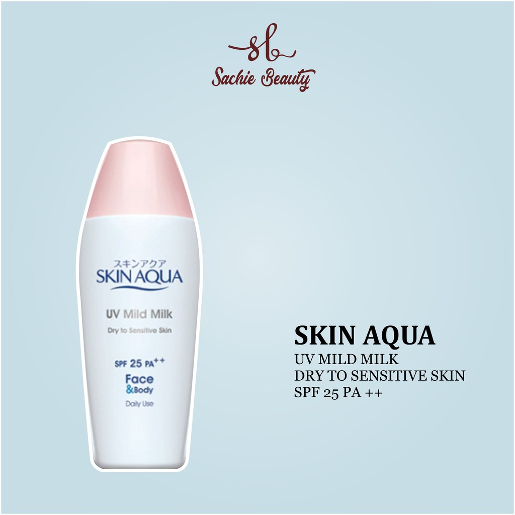 Skin Aqua Uv Mild Milk Spf 25 Untuk Kulit Berjerawat