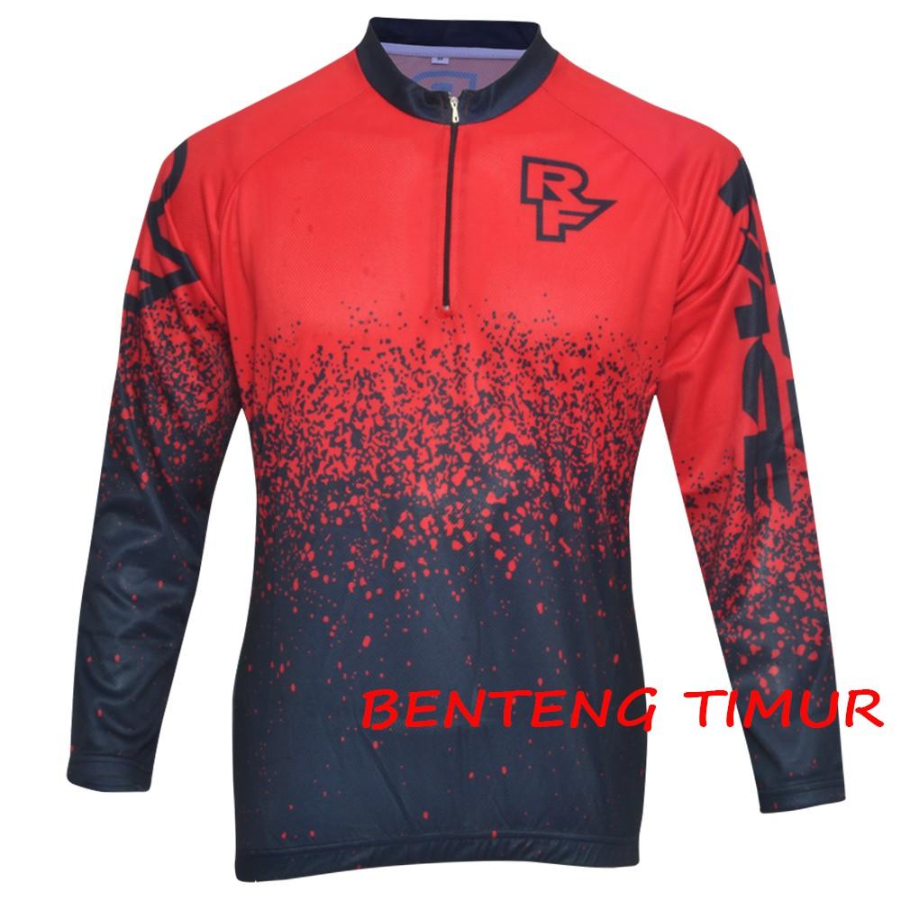 Up To 51 Discount From Bentengtimur Jersey Sepeda Oneal Biru Merah Motor Cross Baju Seped