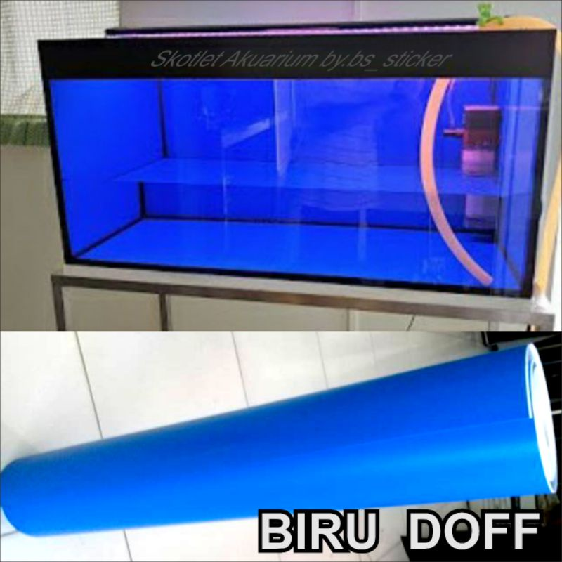 Stiker, Skotlet aquarium & motor (biru doff)