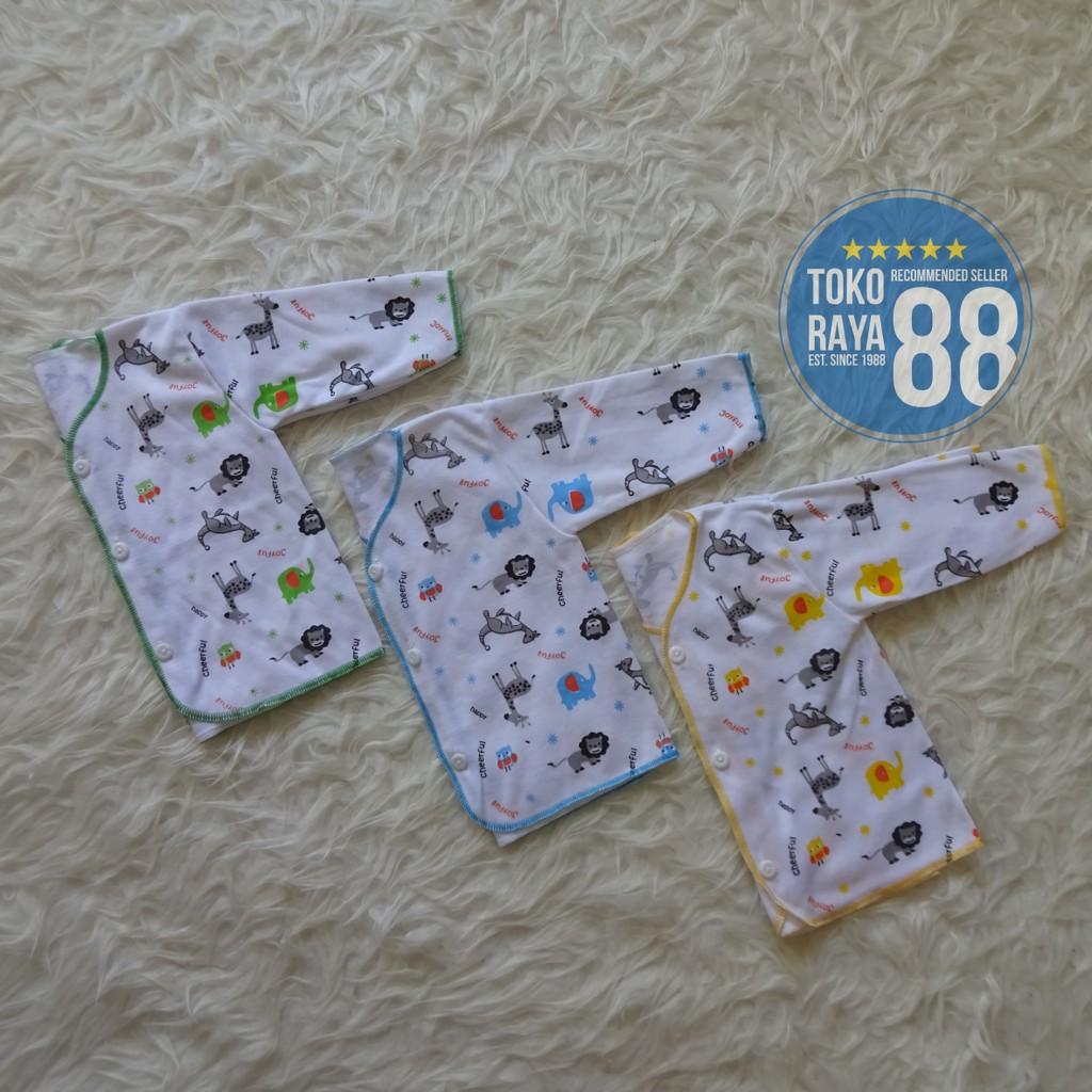 3 Pcs Baju Bayi Newborn Lengan Panjang Merek Aloy Murah Berkualitas