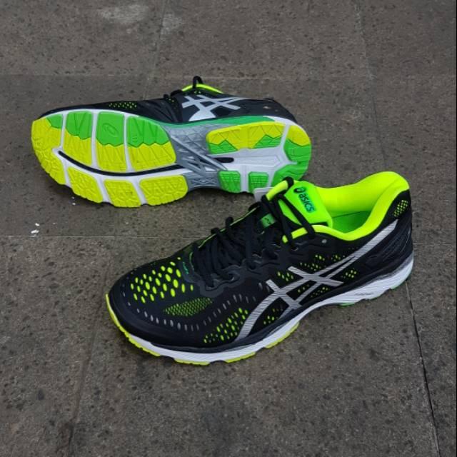 Sepatu Lari Asics Gel Kayano 23 Thunder Blue Safety Yellow