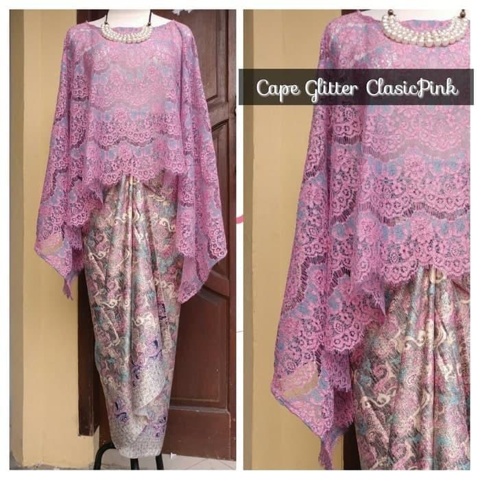 Aneka Setelan Kebaya Brukat Cape Gliter Classic Clasic Pink Shopee Indonesia