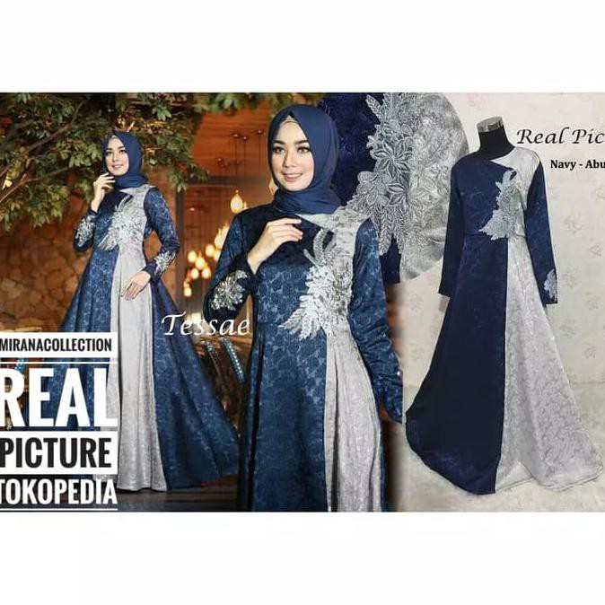 Gamis Gaul 2020 Gamis Pesta Tessae Fashion Muslim Wanita Elegan Terbaru Ladangki Production Shopee Indonesia