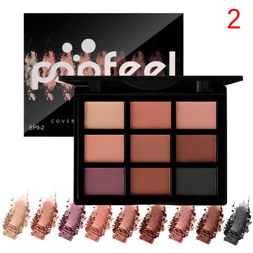 POPFEEL 9 Colors Palet Eyeshadow Matte Pigmented Eye Make Up | Shopee Indonesia
