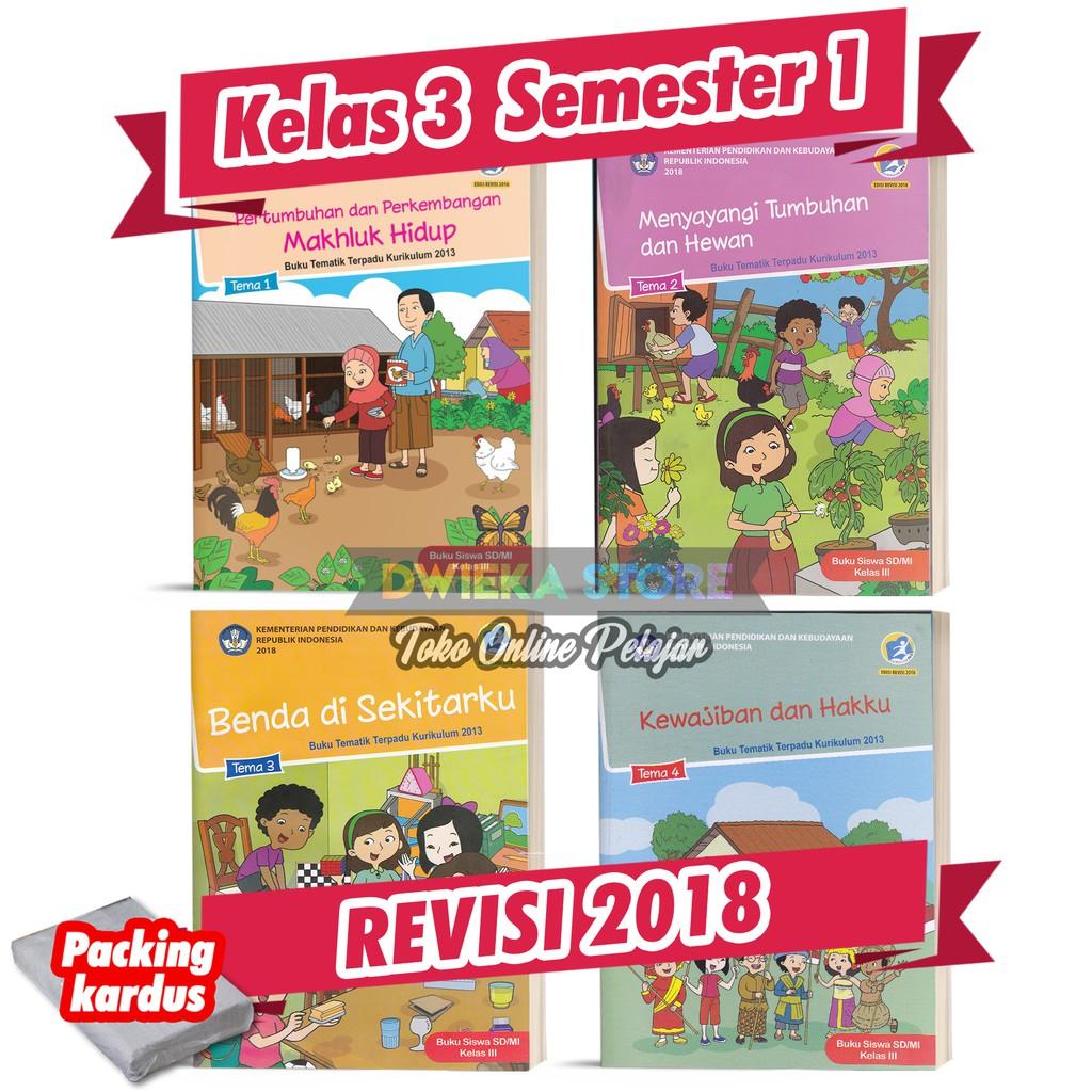 Paket Buku Tematik Sd Kelas 3 Semester 1 Tema 1 2 3 4 Kurikulum 2013 Revisi 2018 Cetakan 2020 Shopee Indonesia