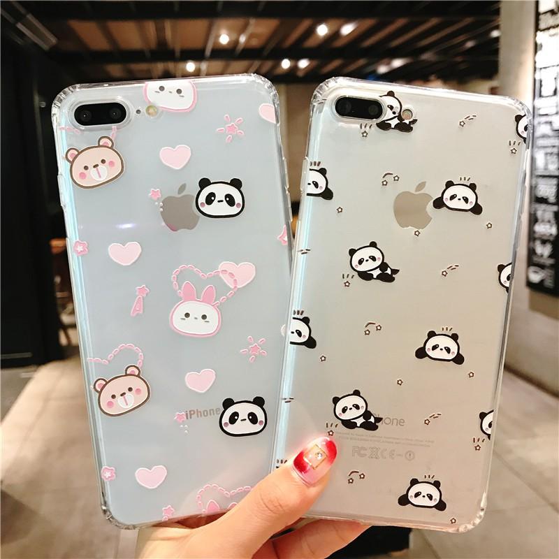 Simple Colorful Transparan Soft Case Casing iPhone 7 & 7 Plus & 8 & 8 Plus   Shopee Indonesia