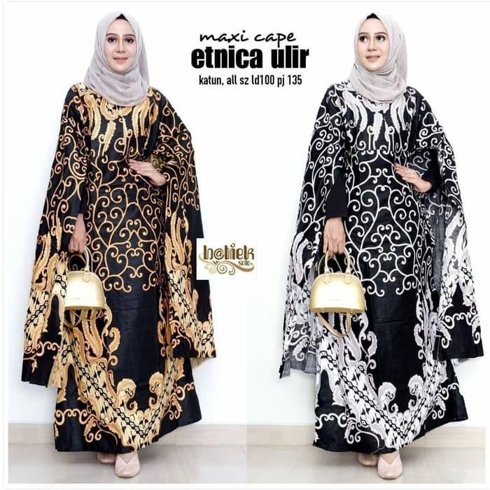 Gamis Batik Modern Kelelawar Baju Kondangan Pesta Batik M Maxi Dress Shopee Indonesia