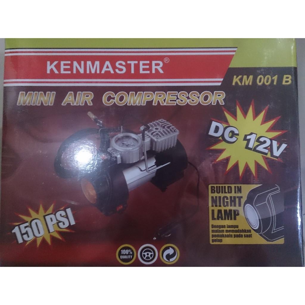 Km001b Kenmaster Pompa Ban Mini Air Compressor 12 Volt Dc Baru Tekanan 100psi Heavy Duty 12v Shopee Indonesia