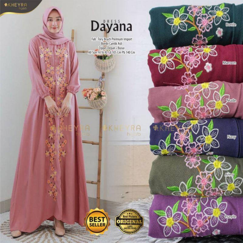 GAMIS DAYANA DRESS ORIGINAL BY KHEYRA