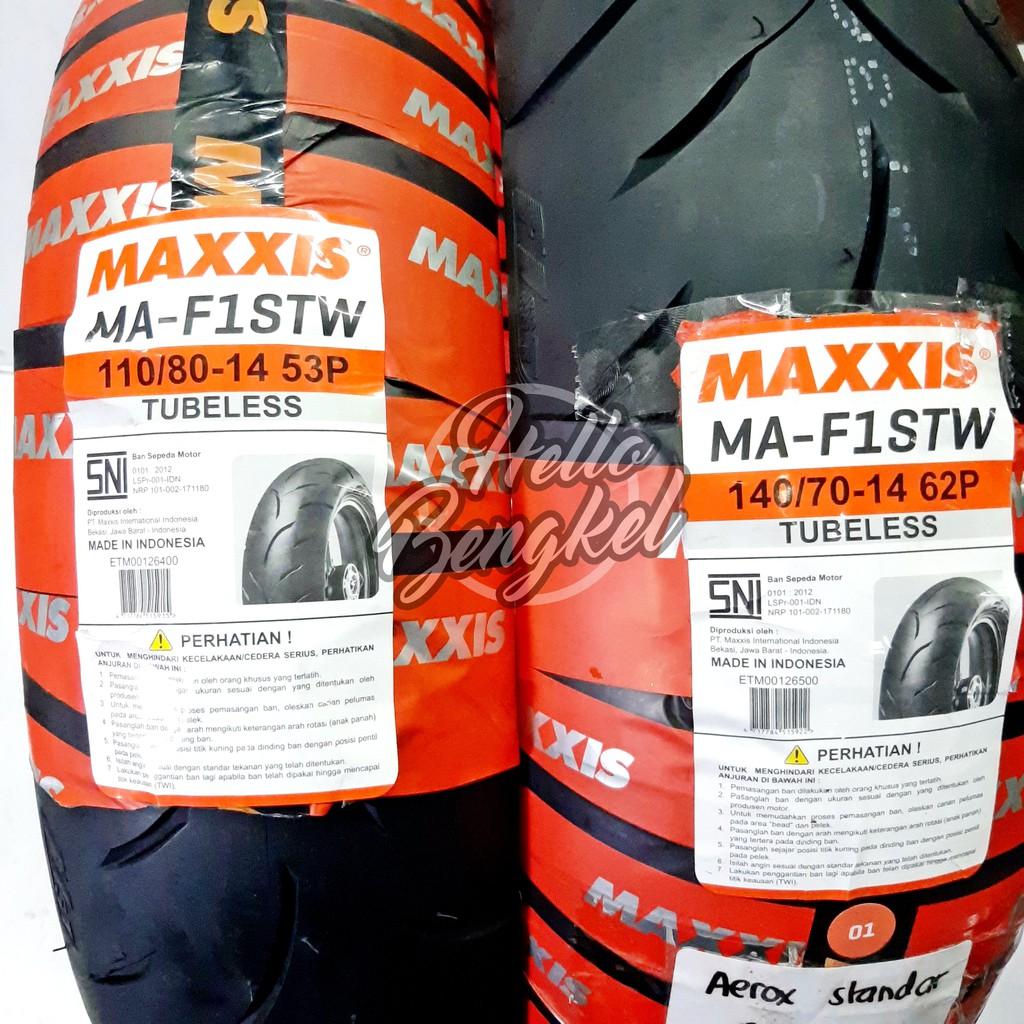 Ban Luar MAXXIS  110/70-14 dan 140/70-14 velg 14 nmax Tubeless belakang