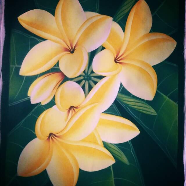 Lukisan Bunga Kamboja Shopee Indonesia
