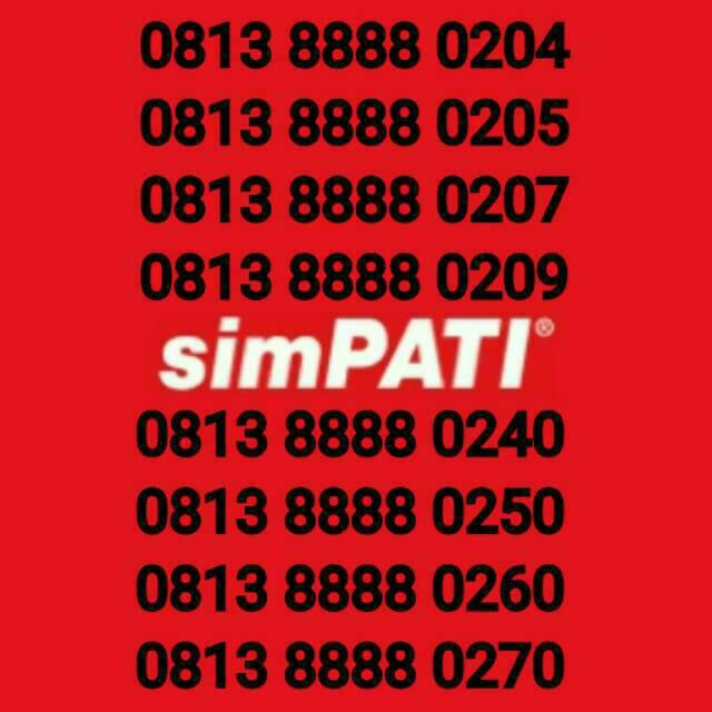 Nomor Cantik Telkomsel Simpati kw 8888 langka mudah diingat | Shopee Indonesia