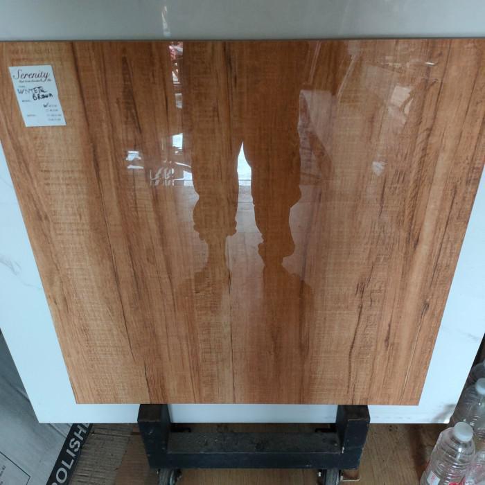 Granit / Granit 60X60 Motif Kayu Glossy Winter Brown