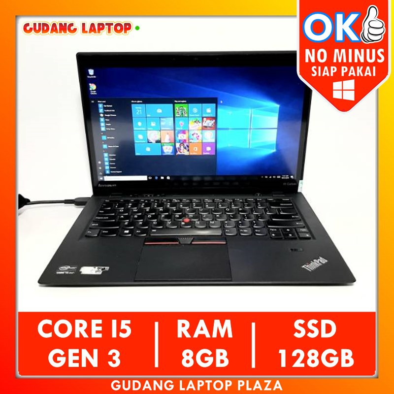 Lenovo Thinkpad X1 Carbon Intel Core I5 Gen 3 8gb Ssd Laptop Bekas Murah Ultrabook Slim Notebook Shopee Indonesia