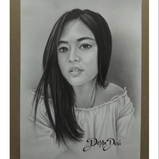 Lukisan Pensil Sketsa Wajah A Shopee Indonesia