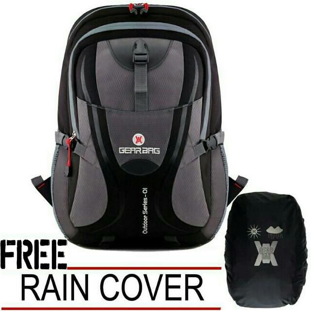 tas ransel backpack sekolah kuliah kerja pria cowok keren hitam coklat biru  merah murah import T81  8cc036ced6