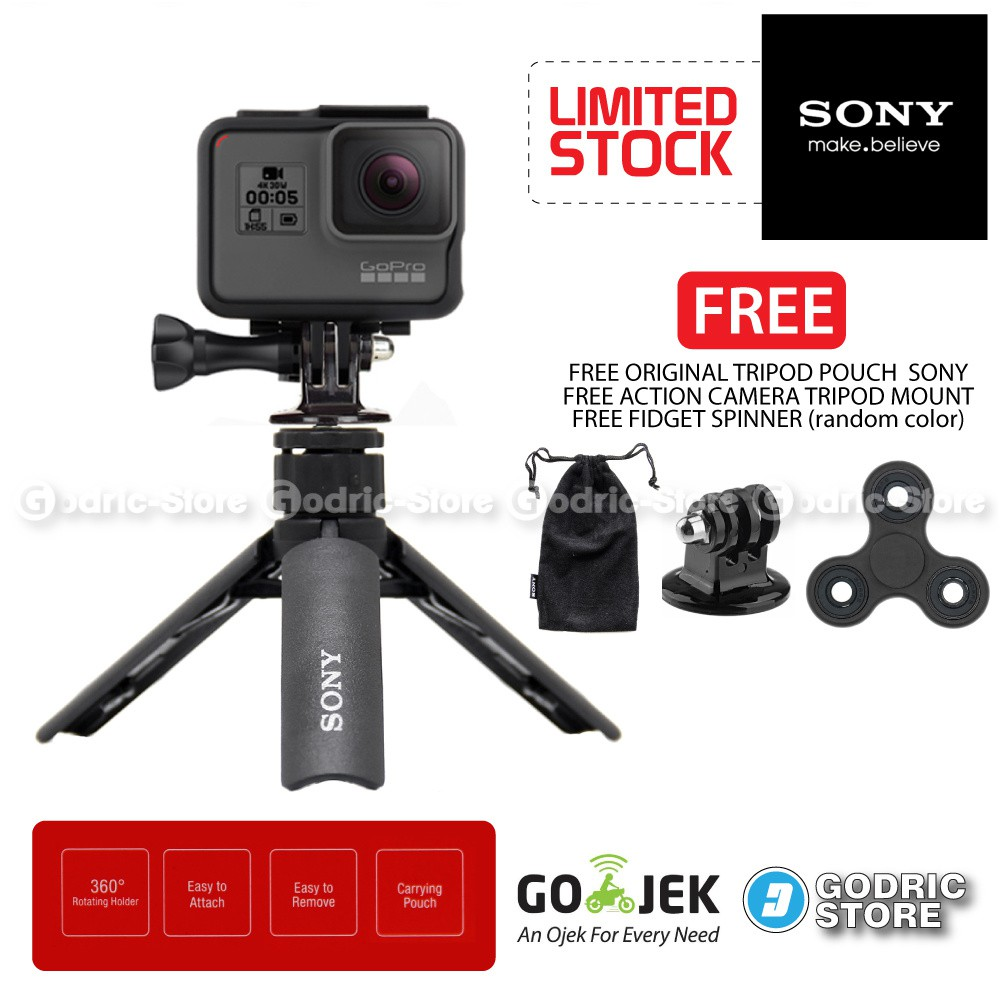 Octopus Gorilla MEDIUM SIZE Tripod With Mount for Action Cam Xiaomi Yi , BRICA B-PRO5 AE AP, etc | Shopee Indonesia