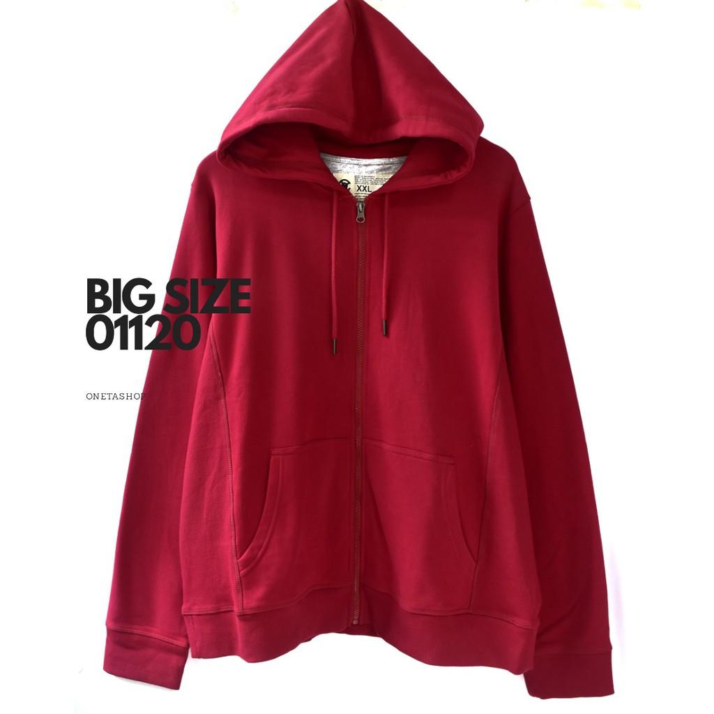 Oneta Sweater Unisex Big Size Wanita / Bahan Katun Outer Casual Fit XXL ld 130-150