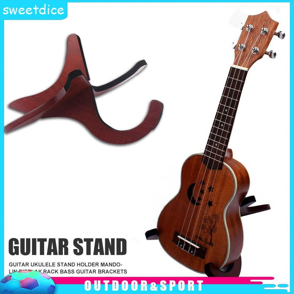 Cod Guitar Ukulele Stand Holder Mandolin Display Rack Bass Guitar Brackets Shopee Indonesia