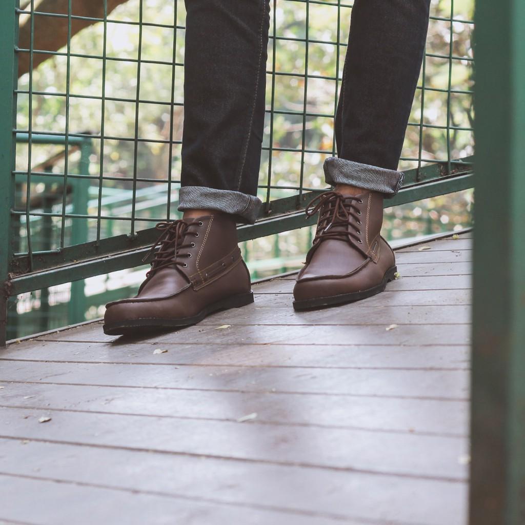 Sepatu Boots Giant Tadelesh Brown Flames Pria Headway Grow Semi Laki Boot Shopee Indonesia
