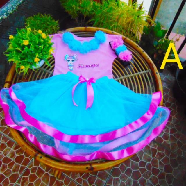 Girls Baby Queen Princess Headband with Elastic Skirt Tutu Set Pink 12-24