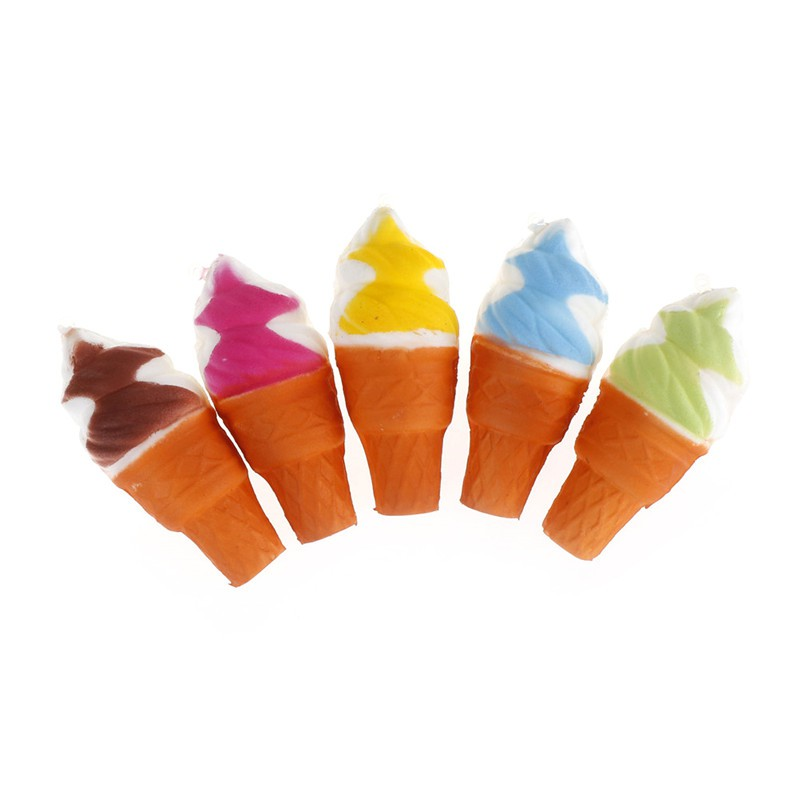 Soft Scented Ice Cream Squishy phone Kawaii Charms Straps Slow Rising Toys Gift | Shopee Indonesia