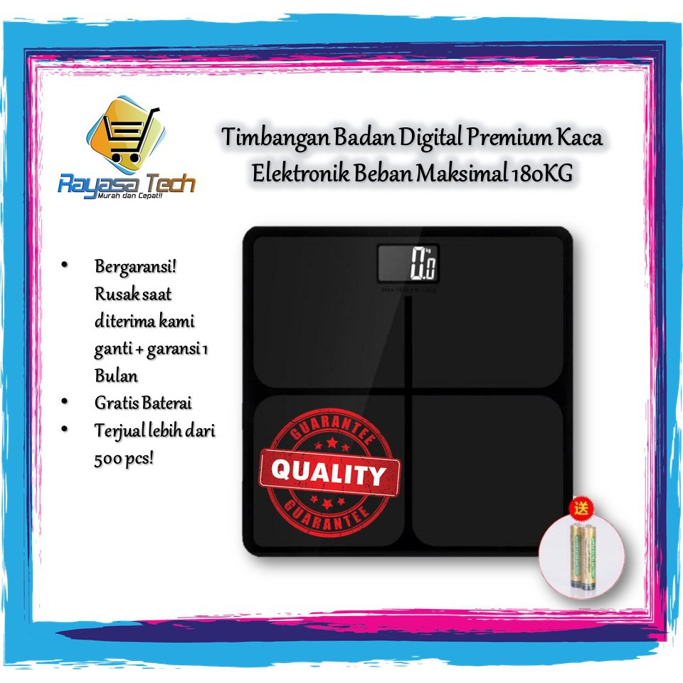 Timbangan Badan Mini Digital Desain Kartun 180kg Shopee Indonesia Dengan Indikator Suhu Baterai Elektronik Electronic 180 Kg