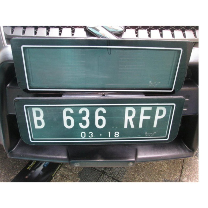 Frame Cover Tempat Dudukan Plat Nomor Mobil Baru Lampu LED Akrilik - Premium Design | Shopee Indonesia