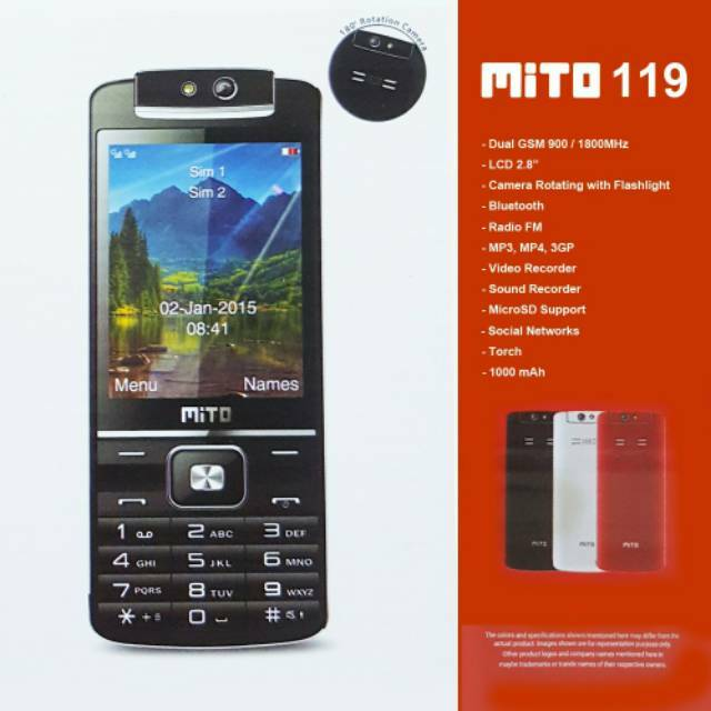 MITO 119 Rotating Camera Dual SIM - Hendfone Official Store | Shopee Indonesia