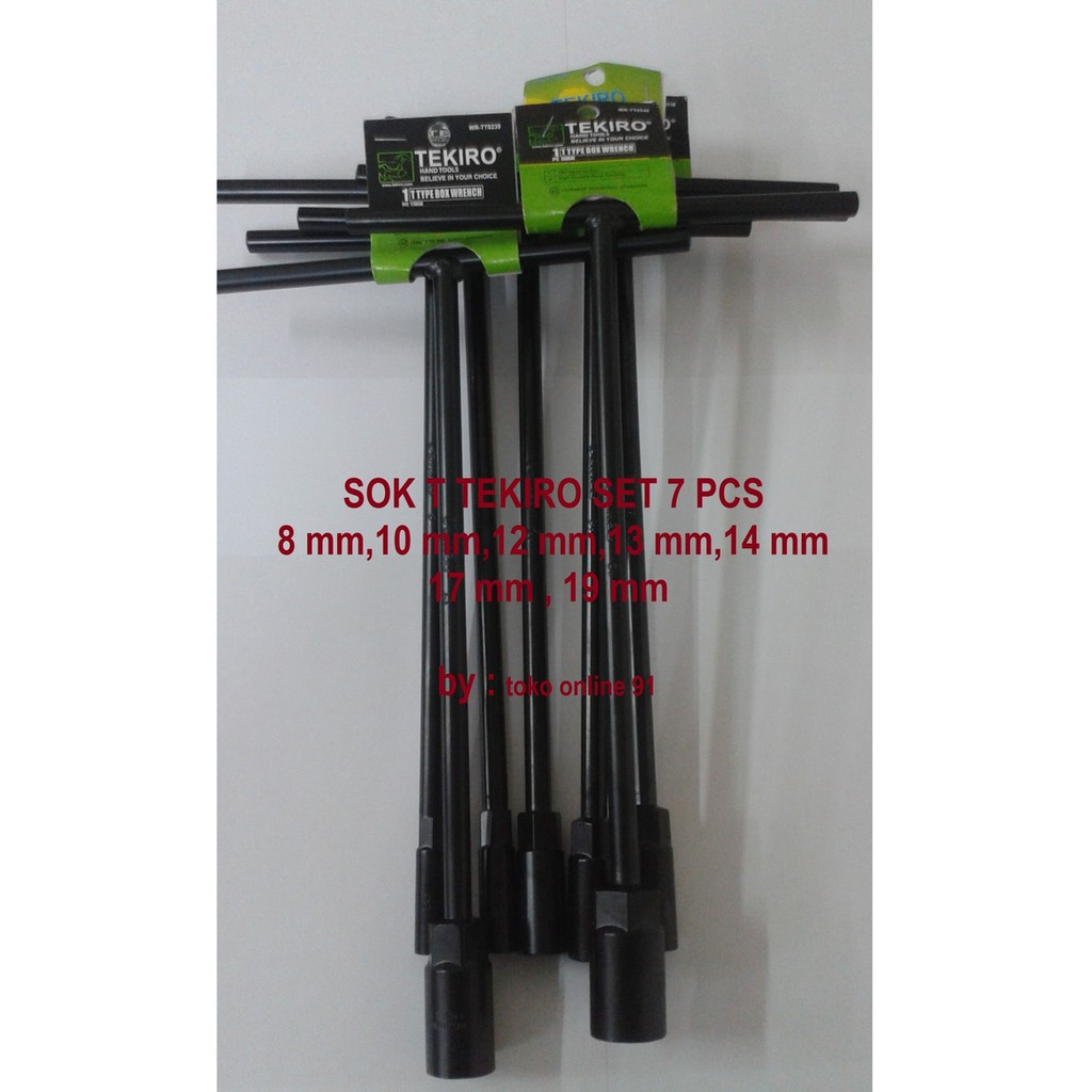 Kunci Sok Set Tekiro Sock 1 4 3 8 Dr 21 Pcs 6 Pt Adaptor F X 2 M Shopee Indonesia