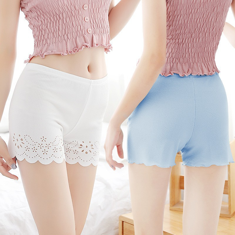 Celana Legging Pendek Wanita Dengan Model Hollow Dan Gambar Motif Bunga Bergaya Korea Shopee Indonesia