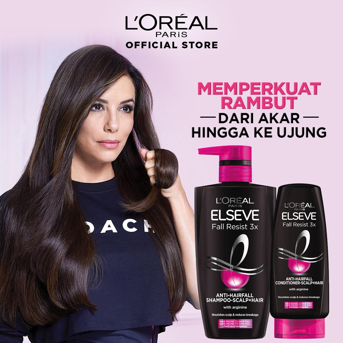 L'Oreal Paris Fall Resist 3x Shampoo Hair Care - 620 ml x3 Pcs (Perawatan Untuk Rambut Mudah Rontok)-2
