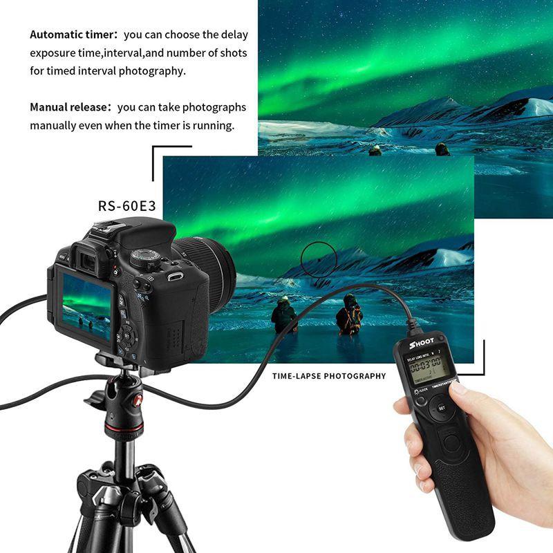 SHOOT RS-60E3 Shutter Release Remote Control for Canon EOS