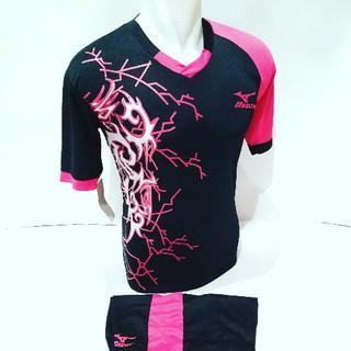 BEST SELLER MZ 04  Baju Volly Jersey Olahraga Futsal Kaos Bola Setelan  Voli Mizuno Hitam Pink  44b40312b1