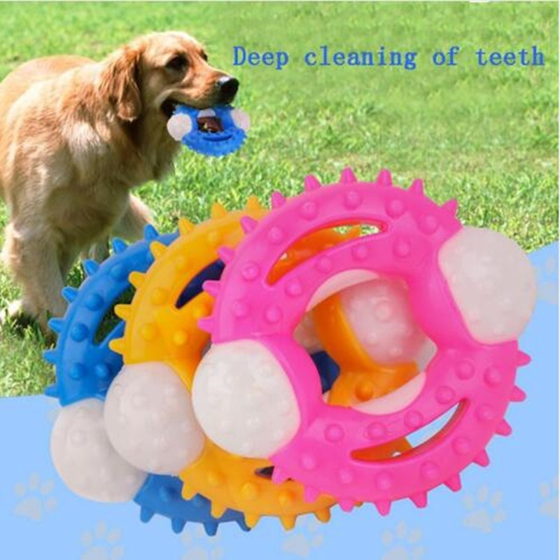Pet Chew Toy Dog Toys Puppy Dental Teeth Gums Bite Resistant Colorful Natural Rubber Tooth Cleaning Tools For Small Dog Shopee Indonesia