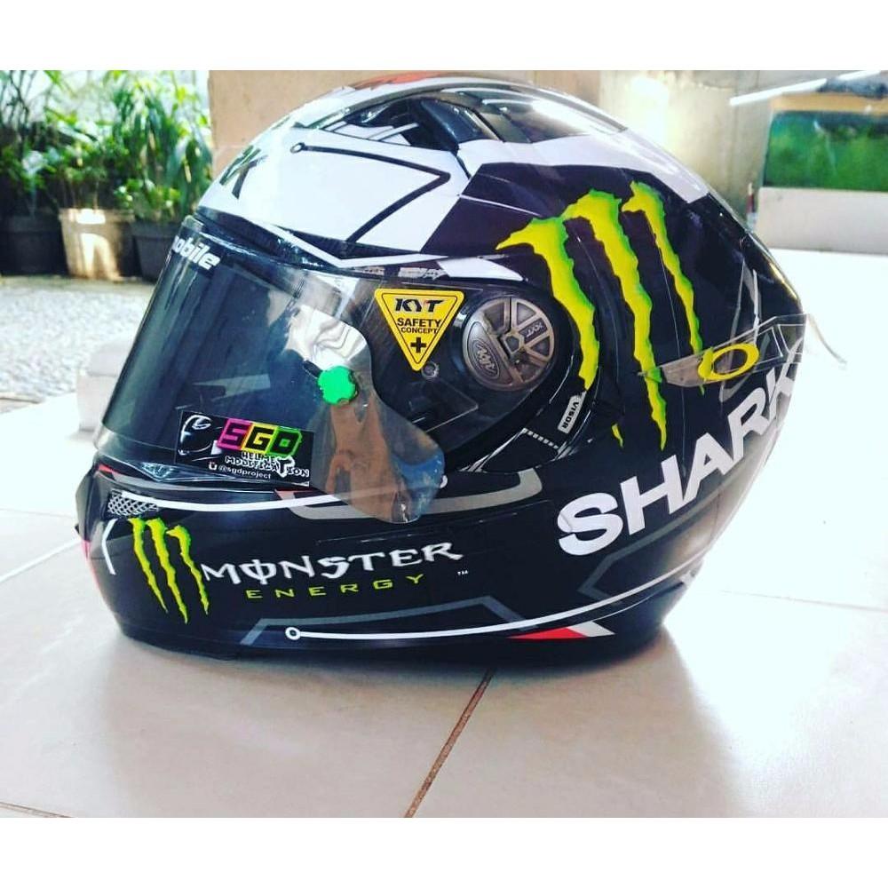 Stiker Decal Helm Full Desain Shark Attack Shopee Indonesia Rpha Lorenzo