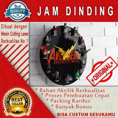 Jam Dinding Exclusive The Beatles bahan akrilik  f5f4dfa737