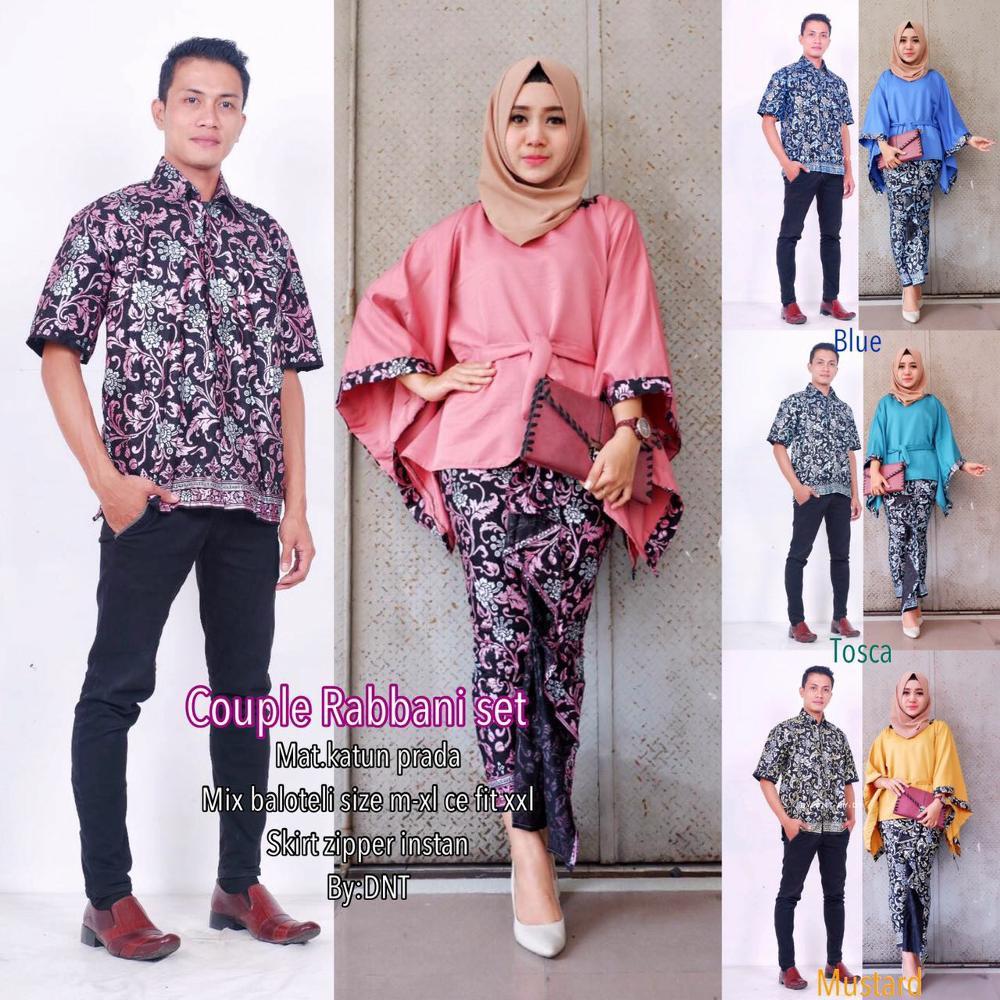 Batik couple kebaya modern rabbani set   batik couple kebaya rabani baju  stelan wanita stelan batik  e91334df68